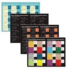 Academic Calendar 2020 17 Template Chris W 2020 Calendar Stickers Month Tabs For Planner