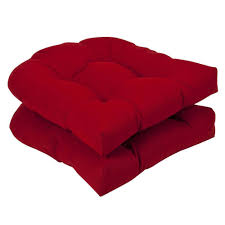 Pillow Perfect Outdoor Red Solid Wicker Seat Cushions Ideas