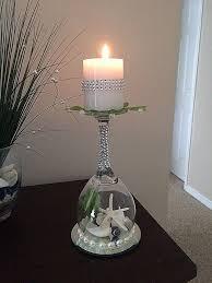 candle holder luxury glass decoration ideas easy diy craft ideas beach wine