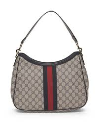 gucci bags made in italy. gucci- made in italy canvas logo hobo with stripe - handbags gucci bags e