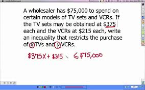 linear inequalities word problems