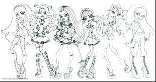 High Coloring Pages For Girls Monster Adults Pdf Staranovaljainfo