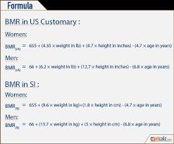 Basal Metabolic Rate Bmr Chart Bmr Basal Metabolic Rate Calculator