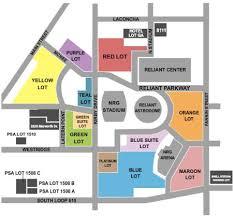 Reliant Stadium Houston Tx Seating Chart Nrg Stadium Parking Lots Tickets And Nrg Stadium Parking