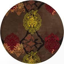 chandra dharma dark brown orange red green yellow 8 ft indoor
