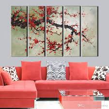 2018 large canvas painting wall pictures wall art red plum flower canvas art home decor modern huge pictures from dorapainting 37 19 dhgate com on plum flower canvas wall art with 2018 large canvas painting wall pictures wall art red plum flower