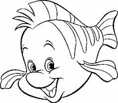 Little Mermaid Fish Coloring Pages