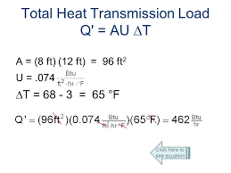 total heat transmission load q au t