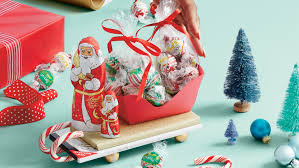 gifts and crafts lindt santa sleigh