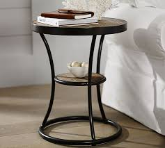 metal and wood bedside tables prodigious bartlett reclaimed side table pottery barn home ideas 8