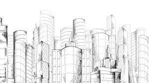 modern architecture skyscrapers sketches. Plain Modern Modern Urban Sketch Skyscraper Building City Center Animated Cityscape  Panorama Available In 4k UHD FullHD And HD 3d Video Animation Footage Motion  Intended Architecture Skyscrapers Sketches L