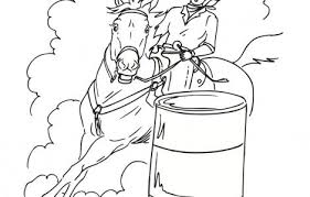 Small Picture Barrel Racing Horse Coloring Pages