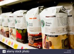 starbucks coffee bag.  Coffee Starbucks Coffee Bags Of Coffee For Sale On Shelf In Grocery Store  Stock  Image And Bag 2
