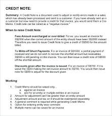 Letter Format For Credit Note – Takahiro.info