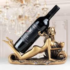 Decorative Wine Bottle Holders resin beauty figurines decorative wine bottle holder funiture 1