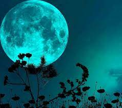 Night sky moon, Wallpaper 4k, Blue moon