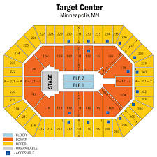 Target Center Minneapolis Mn Seating Chart Target Center Minneapolis Minneapolis Tickets Schedule