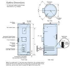 70 gallon water heater. Delighful Water Outline Dimensions Throughout 70 Gallon Water Heater I