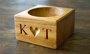 keepsake bo personalised wooden salt bowl makemesomethingspecial co uk