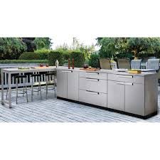 newage outdoor kitchen 18 gauge stainless steel 5 piece set with prep table