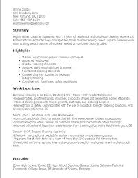 House Cleaner Job Resume Sample For Cleaning Job House Cleaning Resume House Cleaning