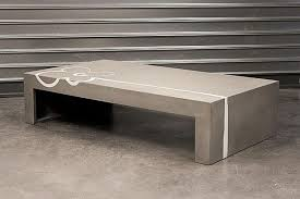 Coffee Table, Rectangle Brown Cement Coffee Table Design Minimalist Stained  Garage Exterior Furniture Creations Crafting Concrete Coffee Table For  Sale: ...