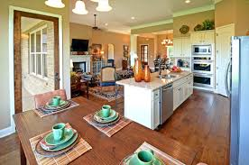 Kitchen And Dining Room Flooring Living Room Ravishing Open Floor Plan Kitchen Dining Pictures