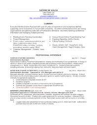 executive assistant resume format  seangarrette cosample resume for administrative assistant skills