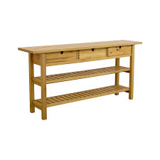 ikea three drawer long console table with shelves utility tables