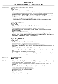 Board Operator Resume Sample Extrusion Warehouse Production Classic