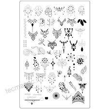 Love Nails Xxl Mandala Stamping Stencil 3 I Acchiappasogni E Piume
