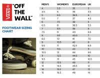 Vans Toddler Size Chart Inches Vans Shoes Size Chart