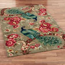 peacock flora rectangle rug sage peacock rug a68 peacock