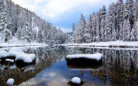 Download Winter River Wallpaper ...