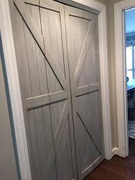 gray folding closet doors