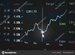 Stock Stock Chart Shallow Dof On Graph Business And