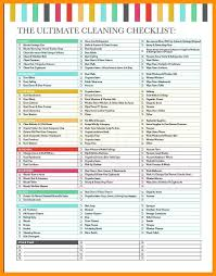 House Cleaning Checklist List Home Schedule Printable Weekly