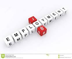 Job And Employment Word Dice Stock Illustration Illustration Of