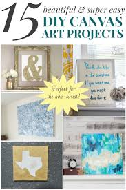 these diy canvas art projects are so super easy you d never guess you