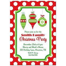 Amazon Com Christmas Ornament Party Invitations With Any