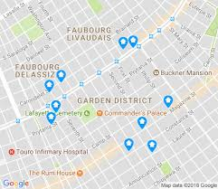 garden district new orleans walking tour map. Map Of Garden District Apartments For Rent. Walk Score District, New Orleans Walking Tour O