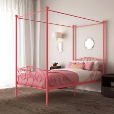 RealRooms Arielle Metal Canopy Metal Bed Frame, Twin Size, Multiple Colors