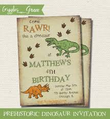 free dinosaur party invitations prehistoric dinosaur printable invitation by giggles grace