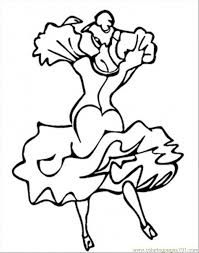 Small Picture Dance Coloring Page Free Spain Coloring Pages ColoringPages101com