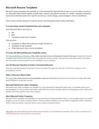 Microsoft Online Resume Templates Template Ms Office Cover Letter Free Basic Resume Microsoft Online 11