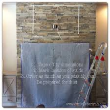how to mount a flat screen tv on a stone fireplace diy