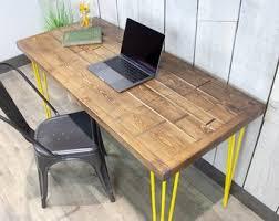 rustic wood office desk. Exellent Wood Desk Vintage Handmade Office Table Wood Office Computer  Industrial Reclaimed Rustic Vintage Wood Desk In Rustic