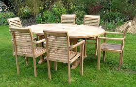 dining room beautiful indoor and outdoor teak furniture collection like elegant 6 chairs and cool large round table set for teak patio furniture in garden