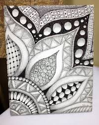 Pattern Drawing Awesome Zentangle Zentangles Pinte
