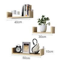 Made By Design Shelves Amazon Com Zgyqgoo Wall Mounted Shelf Set Of 3 Floating U